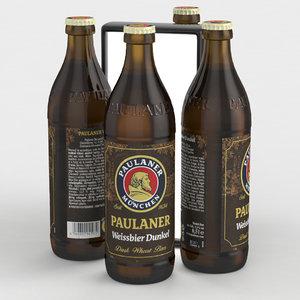 bier weissbier dunkel 3D model