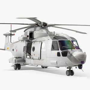 3D agustawestland aw101 helicopter italian model