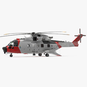 3D agustawestland aw101 helicopter norwegian