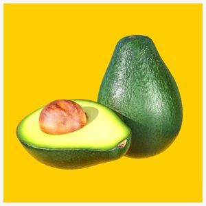 3D avocado photorealistic realtime