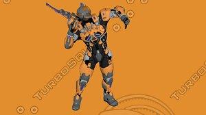pbr character lunar suit 3D model