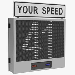 3D electronic modular speed display model