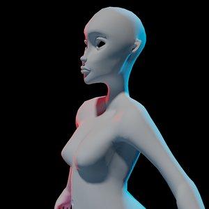 blank body model