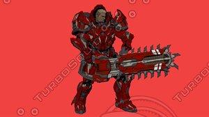 3D rx-0 unicorn gundam armor