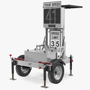3D mobile speed radar trailer