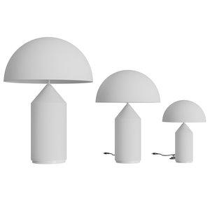 atollo table lamp glass 3D
