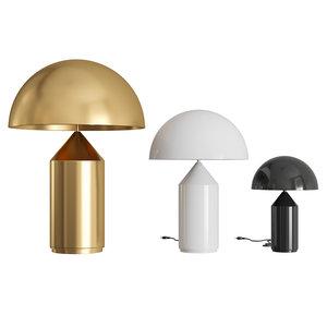 3D atollo table lamp metal model