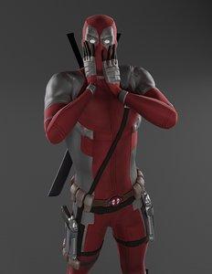 character deadpool superheroes 3D