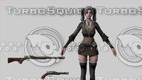 3D Warrior Female model
