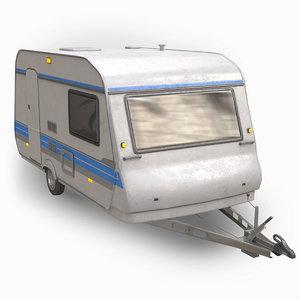 3D hobby camper model