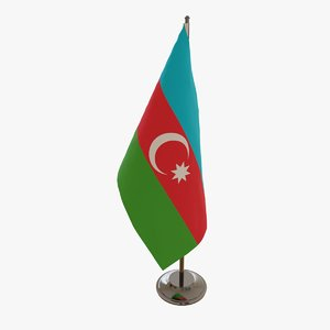 table flag azerbaijan 3D model