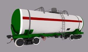 3D railroad oil tank