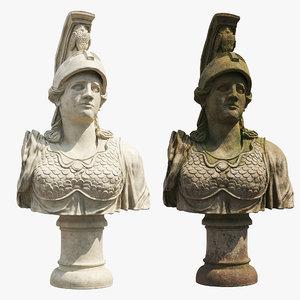 3D bust statue