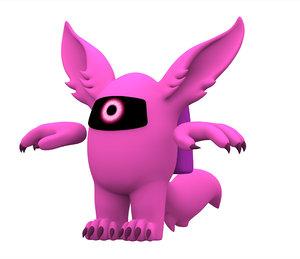 pink werewolf 3D model
