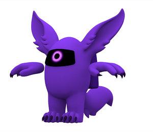 purple werewolf 3D