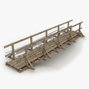 bridge wood wooden 3D model