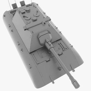 3D model tank e-100 15 cm