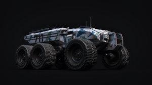 3D technical vehicle spacecraft model