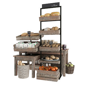 3D food shop bread
