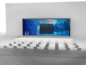 3D event exhibition setup model