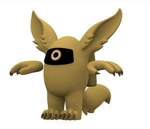 3D model gold werewolf