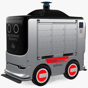 3D autonomous delivery service robot