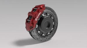 3D brembo brake caliper model