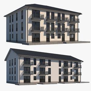 3D buildings house model