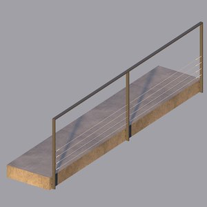 tadao ando railings 3D model