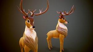 3D art deer cartoon