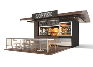 3D coffee pavilion
