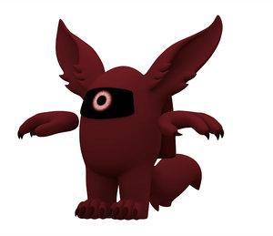 maroon werewolf 3D model