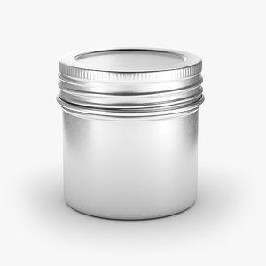 tin jar 3D model