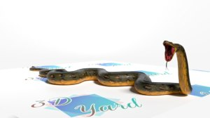 3D anaconda snake model