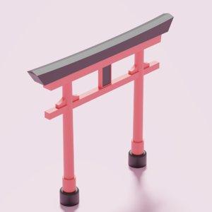 torii gate japan 3D model