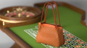 3D small secret tote bag model