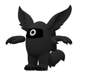 3D black werewolf