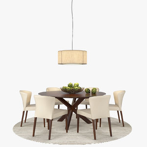 3d model apex dining table