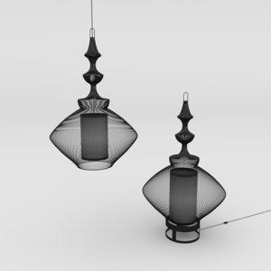 3D lamp opium light