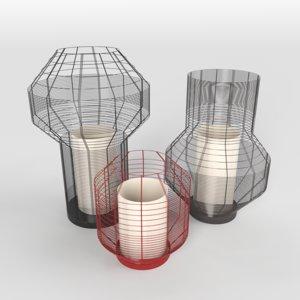 3D lamps mesh model