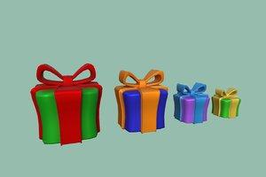 3D gift ribbon holiday model