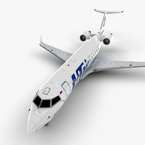 aviation bombardier crj 200 3D model