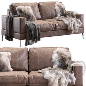 3D model capri sofa 183 cm