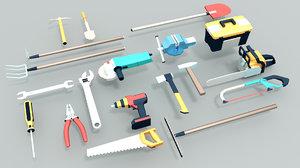 3D tool drill screwdriver model