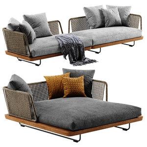 minotti sunray sofa set model