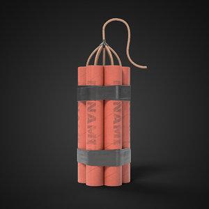 3D dynamite bomb explosive
