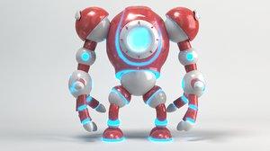 robot cartoon 3D model