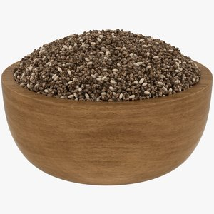 realistic chia seeds 3D model