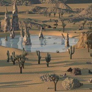 3D desert background