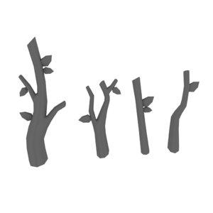 twigs plant nature 3D